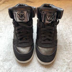 NWOT Michael Kors High Top Wedge Sneakers